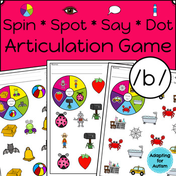Articulation Activity: /b/ Spinner Speech Therapy Game