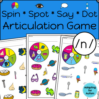 Articulation Activity: /n/ Spinner Speech Therapy Game