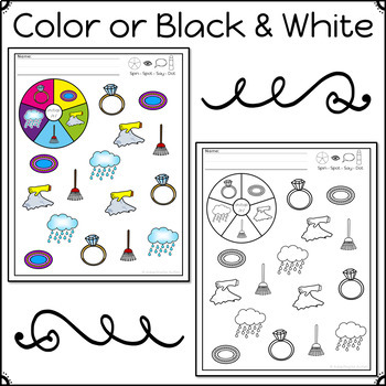 Articulation Activity: /r/ Spinner Speech Therapy Game