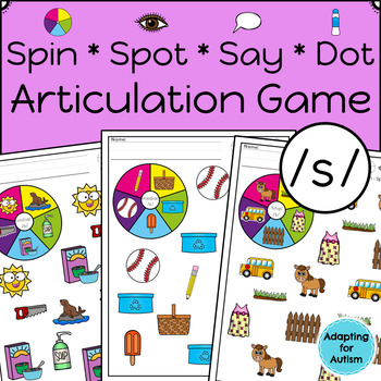 Articulation Activity: /s/ Spinner Speech Therapy Game