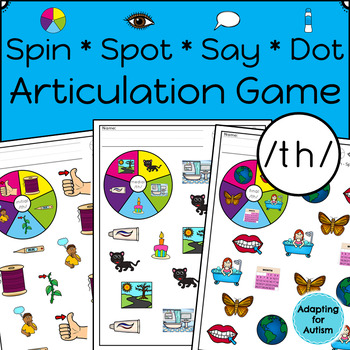 Articulation Activity: /th/ Spinner Speech Therapy Game