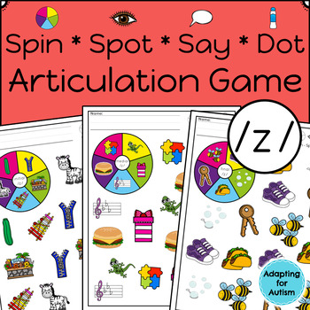 Articulation Activity: /z/ Spinner Speech Therapy Game