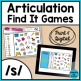 Articulation Activity: /s/ Find It Speech Therapy Games |