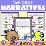Articulation Activity: 's'blends non-sense narratives for speech & language