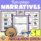 Articulation Activity: 'sh' non-sense narratives for speech and language therapy