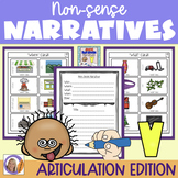 Articulation Activity: 'v' non-sense narratives for speech and language therapy