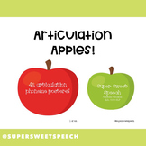 Articulation Apple Posters