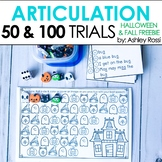 Articulation & Apraxia Trials | FALL & HALLOWEEN | 50 & 10
