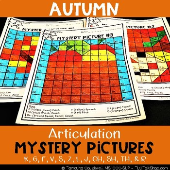 Autumn: Articulation Mystery Pictures