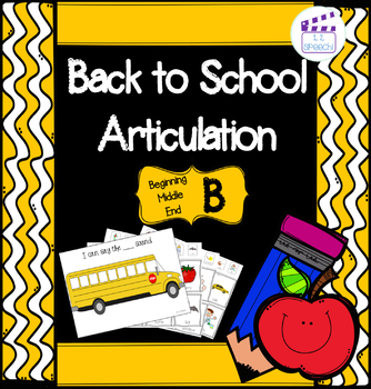 Articulation B - Back to School Theme