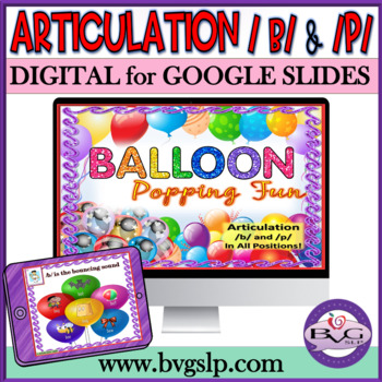 Articulation B and P in All Positions Balloon Popping Fun
