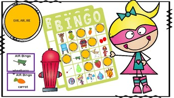 Articulation BINGO: EAR, AIR, IRE; Vocalic /r/ Bingo