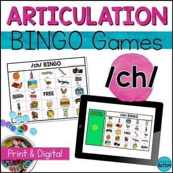 Articulation Game: /ch/ BINGO (Speech Therapy)