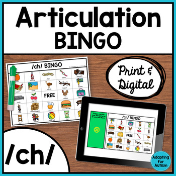 Articulation Game: /ch/ BINGO for Speech Therapy