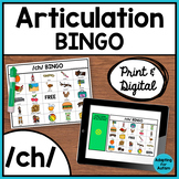 Articulation Game: /ch/ BINGO for Speech Therapy (Print and Digital)