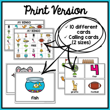 Articulation Game F Bingo For Speech Therapy By
