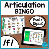 Articulation Game: /f/ BINGO for Speech Therapy (Print and Digital)