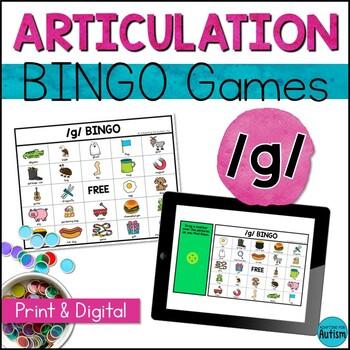 Articulation Game: /g/ BINGO (Speech Therapy)