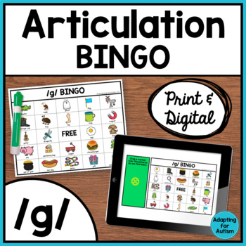 Articulation Game: /g/ BINGO for Speech Therapy