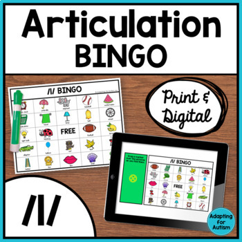 Articulation Game: /l/ BINGO for Speech Therapy