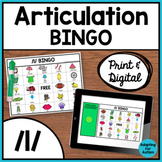 Articulation Game: /l/ BINGO for Speech Therapy (Print and Digital)