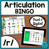 Articulation Game: /r/ BINGO for Speech Therapy (Print and Digital)
