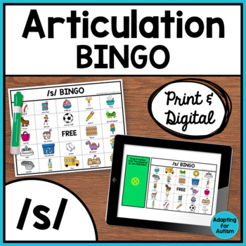 Articulation Game: /s/ BINGO for Speech Therapy