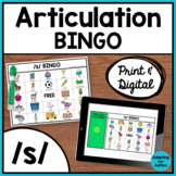 Articulation Game: /s/ BINGO for Speech Therapy (Print and Digital)