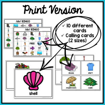 Articulation Game: /sh/ BINGO for Speech Therapy by ...