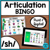 Articulation Game: /sh/ BINGO for Speech Therapy (Print and Digital)