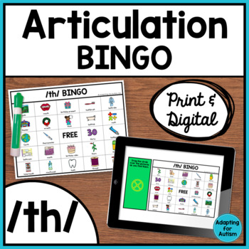 Articulation Game: /th/ BINGO for Speech Therapy