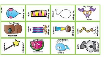 Articulation BINGO: /w/; Bilabials