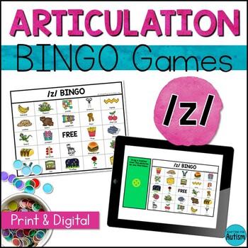Articulation Game: /z/ BINGO (Speech Therapy)