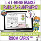 Articulation BOOM Cards™ BUNDLE - Build A Superhero - L and L-Blends
