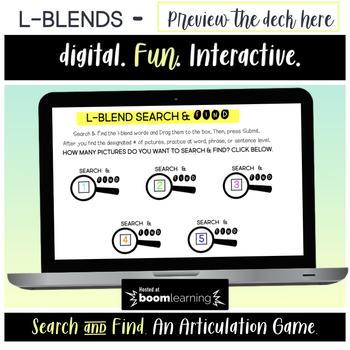 Articulation BOOM Cards™ BUNDLE - Search & Find -  Blends