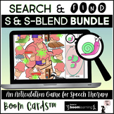 Articulation BOOM Cards™ BUNDLE - Search & Find -  S and S-Blends