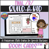 Articulation BOOM Cards™ - Final R - Build-A-Kid Game
