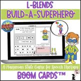 Articulation BOOM Cards™ - L Blends - Build A Superhero Game