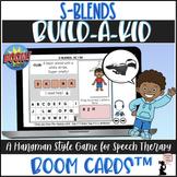 Articulation BOOM Cards™ - S Blends - Build-A-Kid Game
