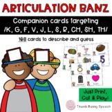 Articulation Banz - Companion Cards