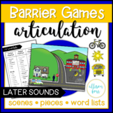 Articulation Barrier Games Speech Therapy   Later Sounds