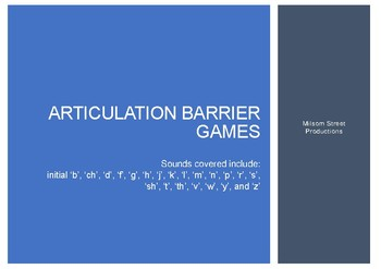 Articulation Barrier Games for Initial Sounds