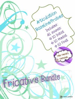 Articulation Baseline/Probes (Fricatives)
