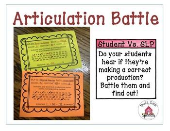 Articulation Battle: No Prep Speech Therapy Activity