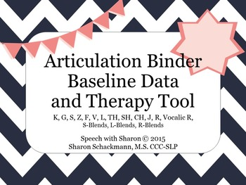 Articulation Binder: Baseline and Therapy Tool