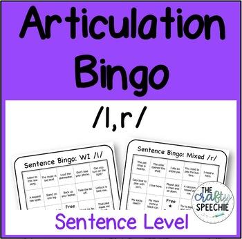 Articulation Bingo: A No-Prep, Sentence-Level Activity for /l, r/