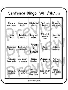 Articulation Bingo: A No-Prep, Sentence-Level Activity for /sh, ch, j/