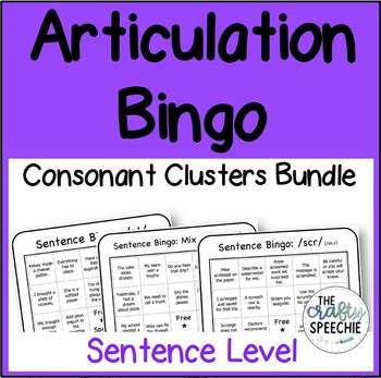 Articulation Bingo: A no-prep, sentence-level activity for consonant clusters