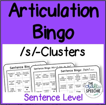 Articulation Bingo: A no-prep, sentence-level activity for /s/-clusters