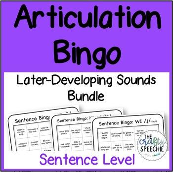 Articulation Bingo Bundle for Later-Developing Speech Sounds